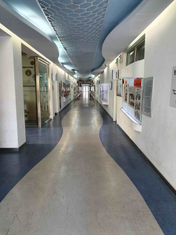 Corridor of a Chinese High School