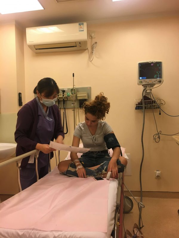 Tereza's experience in a Hospital in Beijing