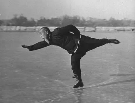 Ice Skating on Houhai, Beijing