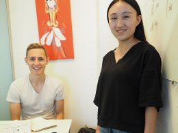 Teacher Monica and student Nicklas at LTL Beijing