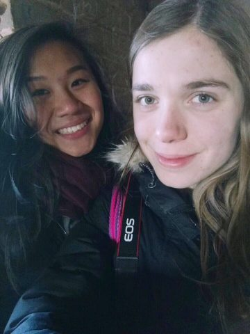Jocelyn and Katrin in China
