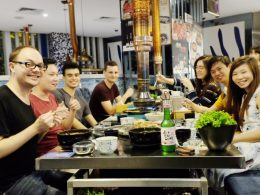Dinner with the Shanghai students and staff