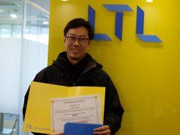 Student Justin graduates from LTL