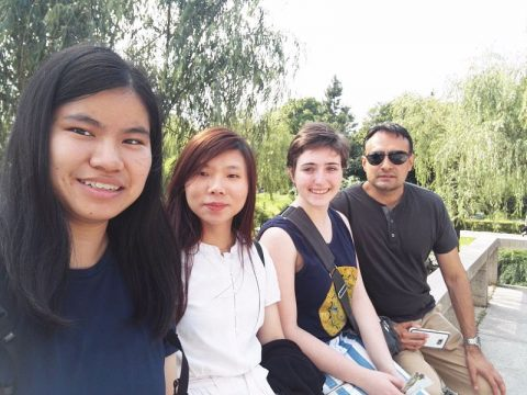 "LTL Students and staff in the ""Humble Administrators Garden"" in Suzhou"