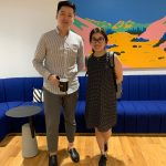 Our first ever LTL Singapore Student - Stephanie and Teacher Tim