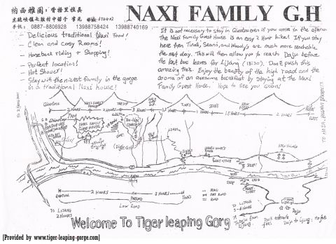 Mama Naxi Guesthouse provides lots of useful information for Tiger Leaping Gorge trekking