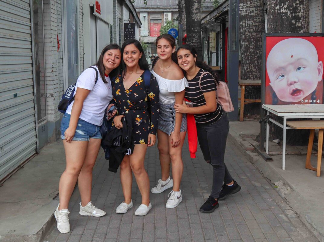 Mexican Students exploring China