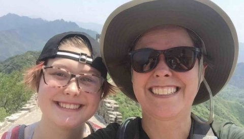 Sienna and Stephanie visit the Great Wall