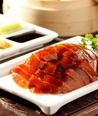 Beijing Roast Duck on table in restaurant