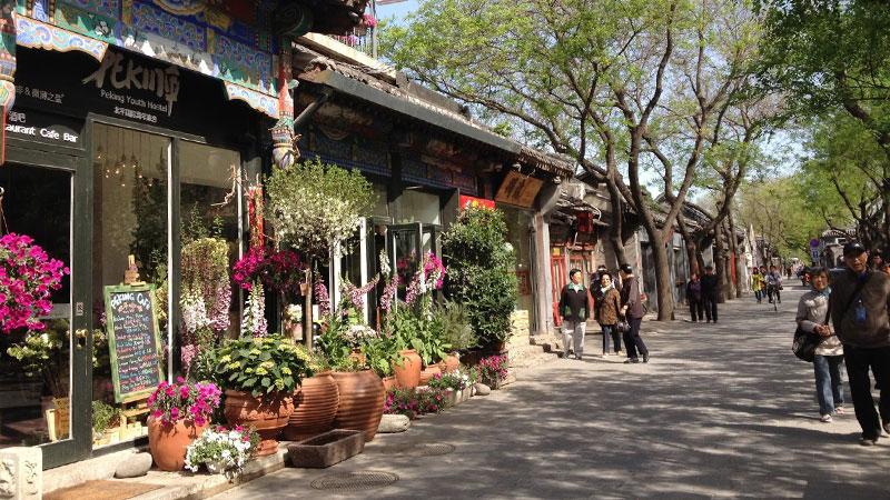 Nanluoguxiang Hutong area