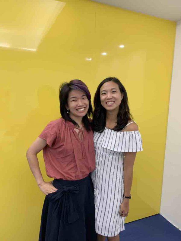 Rachel with her teacher at LTL Taiwan