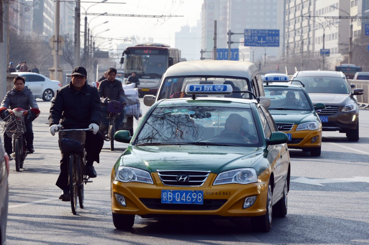 Taxi in China: Beijing's famous taxi colours