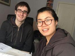 Tina with a LTL student