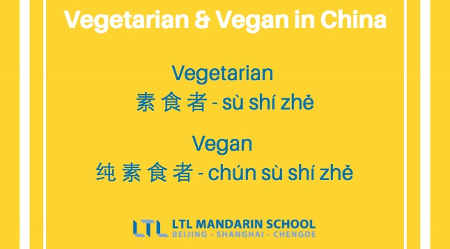 Vegetarian in Chinese