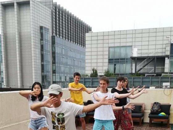 Kong-Fu masterclass on the roof terrace