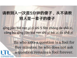 Chinese Proverb - Asking Questions