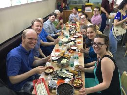 Students of LTL enjoying lunch