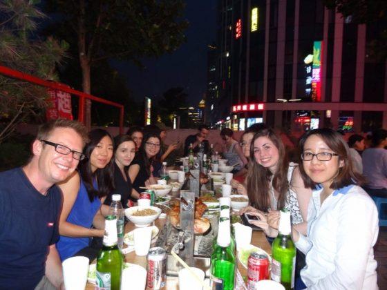Wednesday night social dinner in Beijing