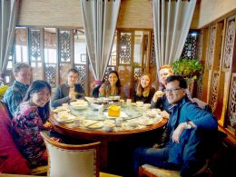 Dinner time for LTL Shanghai students
