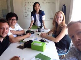 Learn Mandarin in Beijing - Teacher Lucy and students