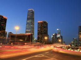 China shines bright at night
