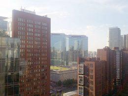 Beijing rooftop view