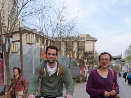 Cycling through the streets of Chengde