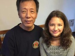 Laodice with her homestay father
