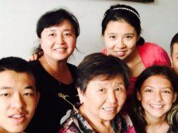 Homestay family in China