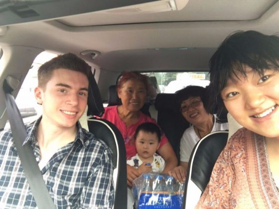 Meeting the homestay family