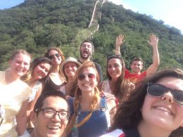 Time for a selfie on the Great Wall