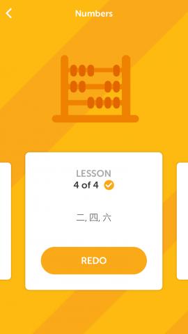 A lesson with Duolingo