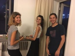 Italian students enjoying our Beijing house party