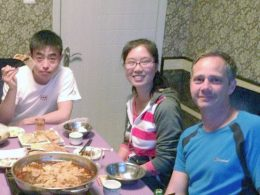 Dinner time at the Homestay