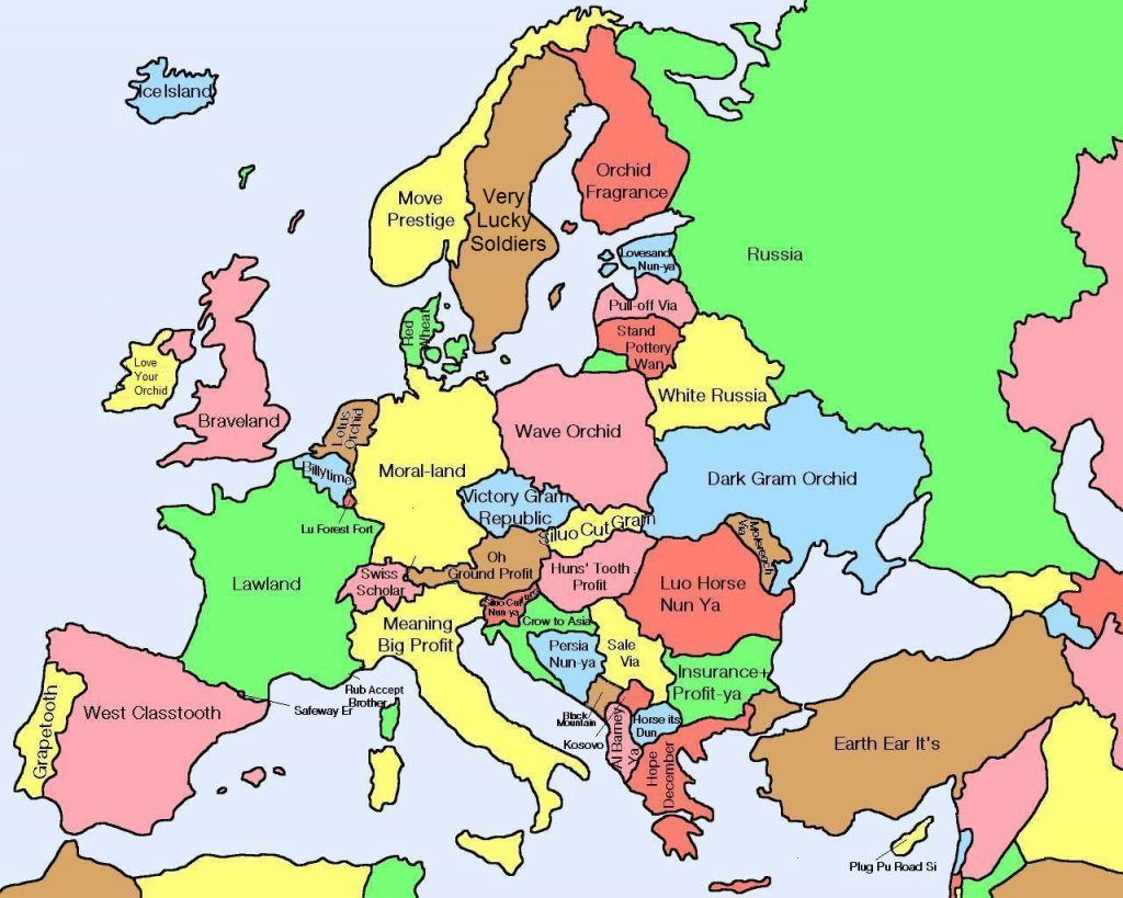 Literal Chinese Translations of European Country Names