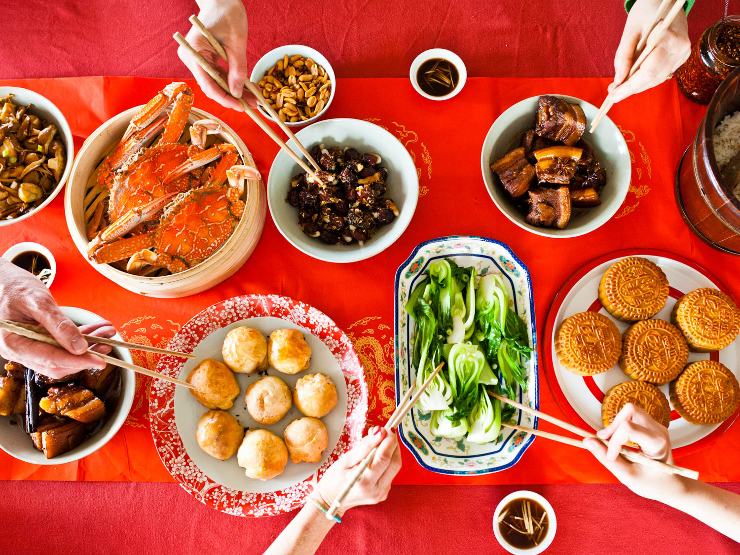 Moon Festival Feast - Delicious!