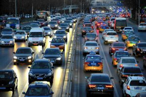 Traffic Jams are a familiar sight in the bigger Chinese Cities!